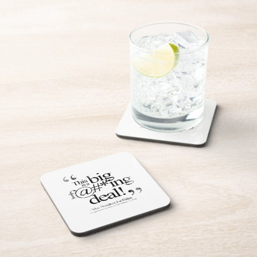 This is a Big F-ing Deal Faded.png Drink Coaster