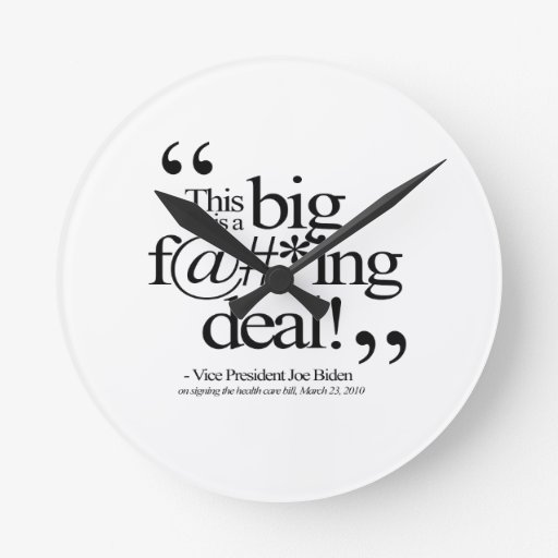 THIS IS A BIG F-ING DEAL -.png Round Wall Clock