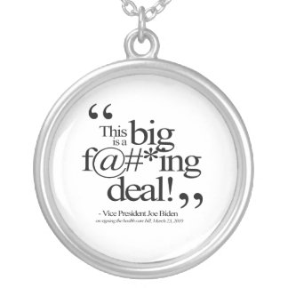 This is a Big F-ing Deal Round Pendant Necklace