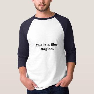 This is a Blue Raglan. T-Shirt