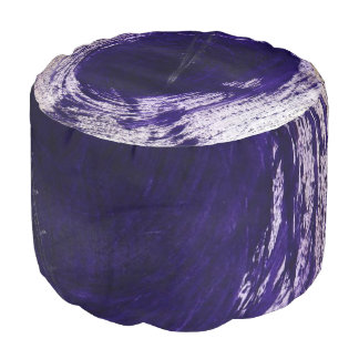 This is a ROUND Poul that has a Purple design. Pouf