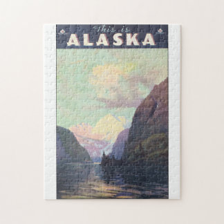 This is Alaska Vintage Travel Poster Artwork Jigsaw Puzzle