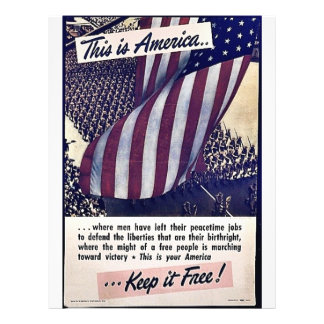 This Is America Keep It Free! Flyer