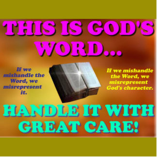 This is God's word...Handle it with great care! Standing Photo Sculpture