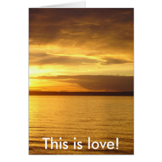 """""""This is Love"""" Poetry Greeting Card"""