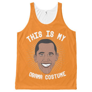 This is my Barack Obama Costume - Political Hallow All-Over Print Singlet