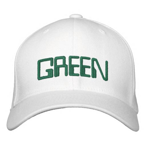 This is my GREEN hat for St. Pattys Day!!! Embroidered Hat