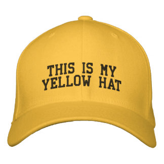 This is my Yellow Hat for Man with Hat Costume Embroidered Hats