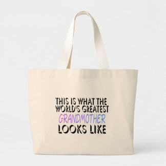 This Is What The World's Greatest Grandmother (2) Jumbo Tote Bag