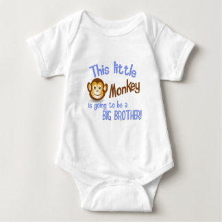 This Little Monkey is going to be a BIG BROTHER! Baby Bodysuit