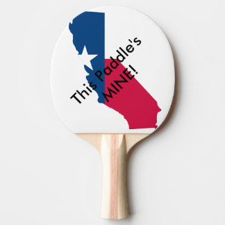 This Paddle's Mine Personalized Texafornia Flag