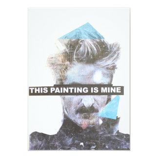 this painting is mine 13 cm x 18 cm invitation card