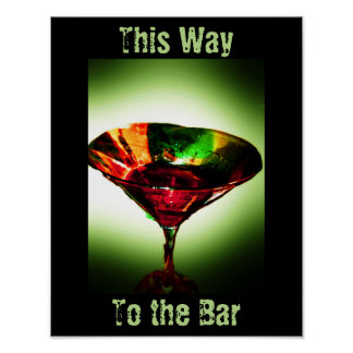 This Way to the Bar Poster