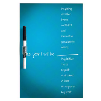 This Year I will Be ... You Fill in the blank! Dry Erase Whiteboard
