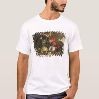 Thistles, flowers, reptiles and butterflies beside T-Shirt