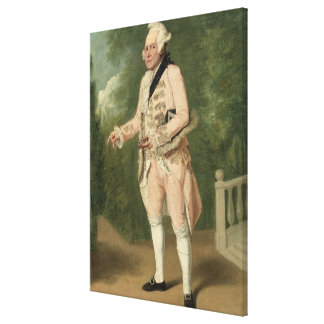 Thomas King as Lord Ogleby (oil on canvas) Canvas Print