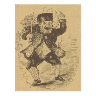 Thomas Nast's Early St. Nick Drawing Card Postcard