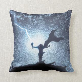 Thor Lightning Comic Panel Throw Pillow