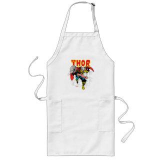Thor Retro Comic Price Graphic Long Apron