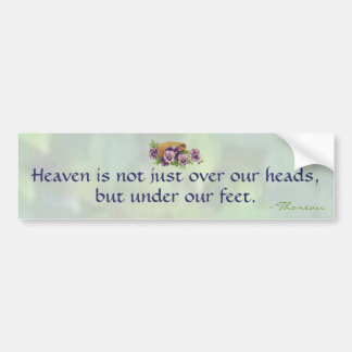 Thoreau's Heaven Bumper Sticker