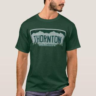 Thornton Colorado guys license plate tee