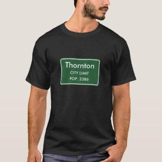 Thornton, IL City Limits Sign T-Shirt