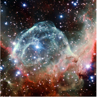 Thor's Helmet Nebula Space Standing Photo Sculpture