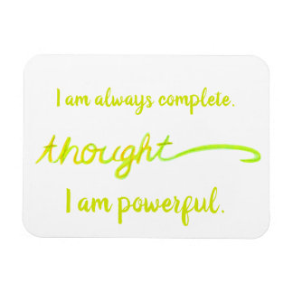 """Thought"" Yellow Power Chakra Words Magnet"