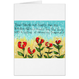 Thoughtful and creative sympathy card