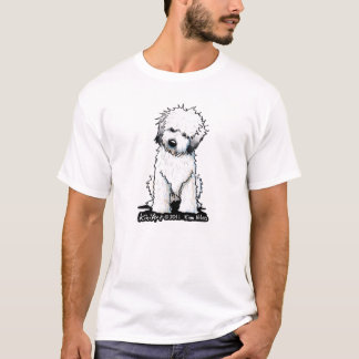 Thoughtful Wheaten Terrier Distressed T-Shirt