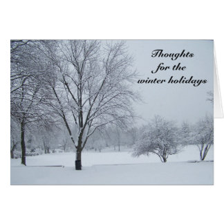 Thoughts for the Winter Holidays Card Design
