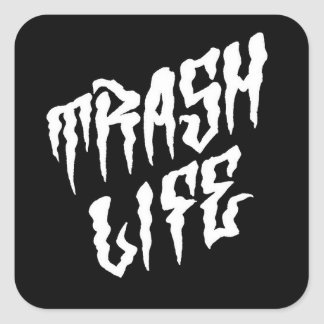 Thrash Life Square Sticker