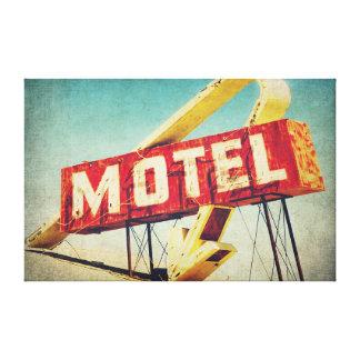 Thrashed Motel Canvas Print