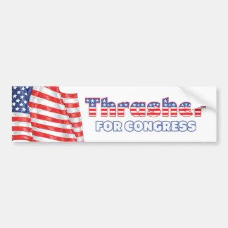 Thrasher for Congress Patriotic American Flag Desi Bumper Sticker
