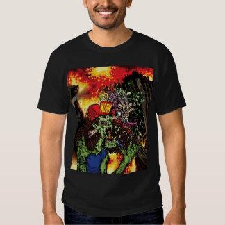 Thrashing Like A Maniac - cover art w/ back logo T Shirt