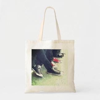 Three Boys in Converse Shoes Tote Bag