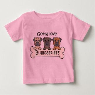 Three Bullmastiffs Baby T-Shirt