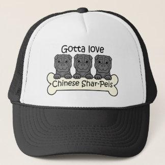 Three Chinese Shar-Peis Trucker Hat