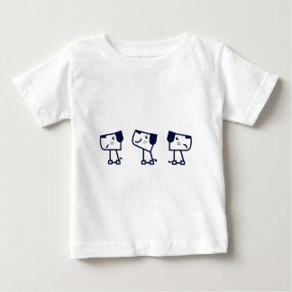 Three cute dogs black on white baby T-Shirt