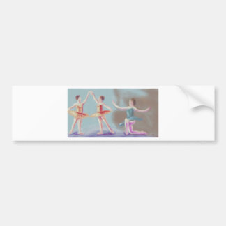 Three Dancers Art Bumper Sticker