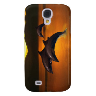 Three dolphins at sunset galaxy s4 case