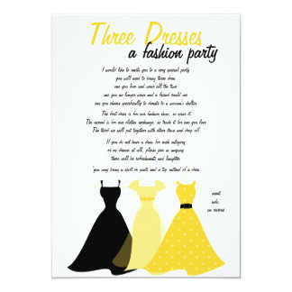 Cloth designs invitations announcements zazzle three dresses card stopboris Images