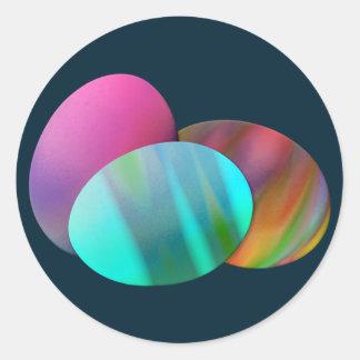 Three Easter Eggs Round Sticker