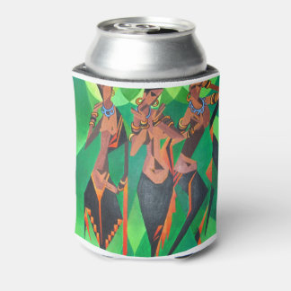 Three Ethnic Traditional Black Women Dancing Can Cooler