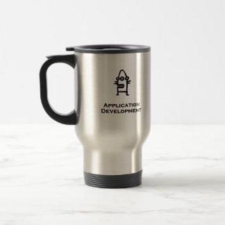 Three Eye Bot Application Development Stainless Steel Travel Mug