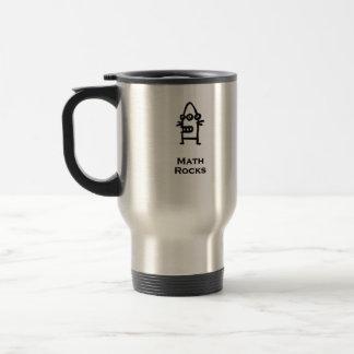 Three Eye Bot Math Rocks Stainless Steel Travel Mug