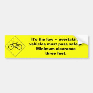 Three Feet Bumper Sticker