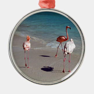 Three Flamingos from Aruba Christmas Ornament