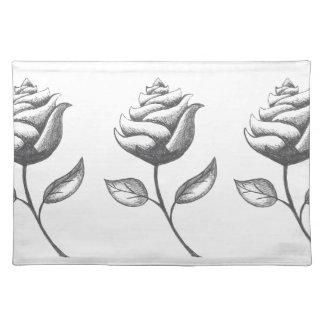 Three Flowers Cloth Place Mat
