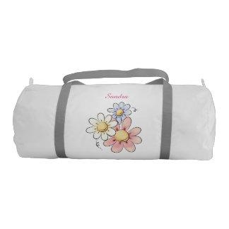 Three Flowers Duffel Bag Gym Duffel Bag